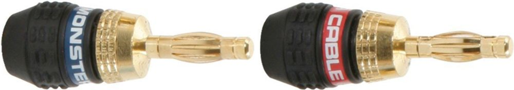 Fiches bananes Quick Lock plaquées or 24k - MONSTER Quick Lock Bananes MKII