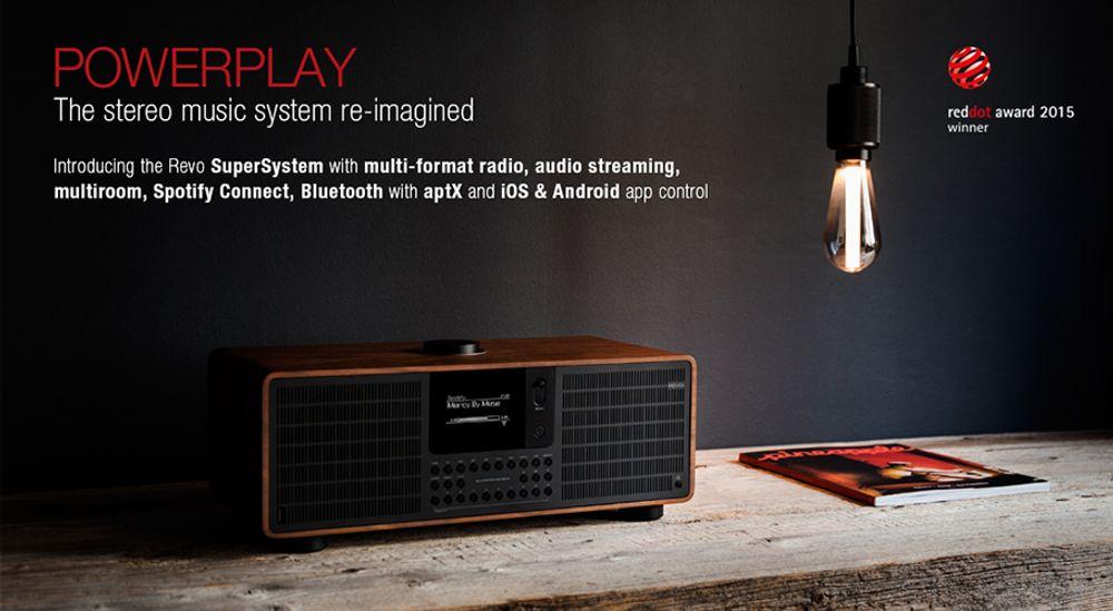 Radio FM RDS, DAB, DAB+ amplification de 80 W et connectivité sans fil Bluetooth®, Wi-Fi™ et DLNA - REVO SuperSystem