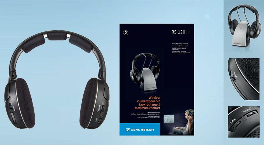 Système d'émetteur et casque Hi-Fi stéréo sans fil - SENNHEISER RS 120 II