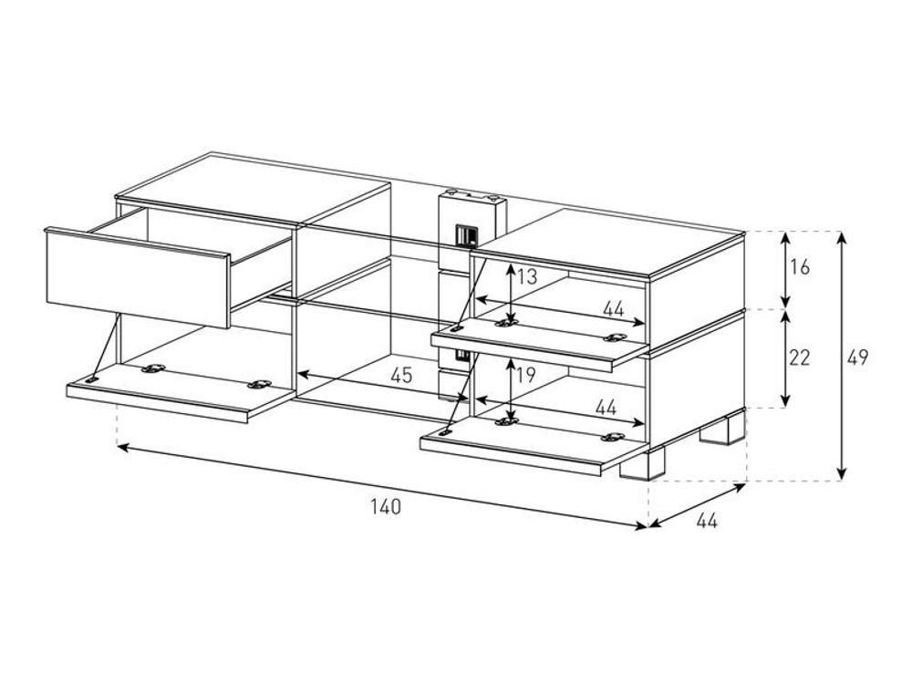 meuble tv sonorous md 9240 c inx wht dimensions - Meuble Tv Dimension