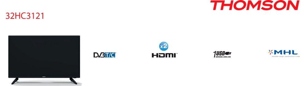 HDTV de 81 cm avec rétroéclairage LED - THOMSON 32HC3121