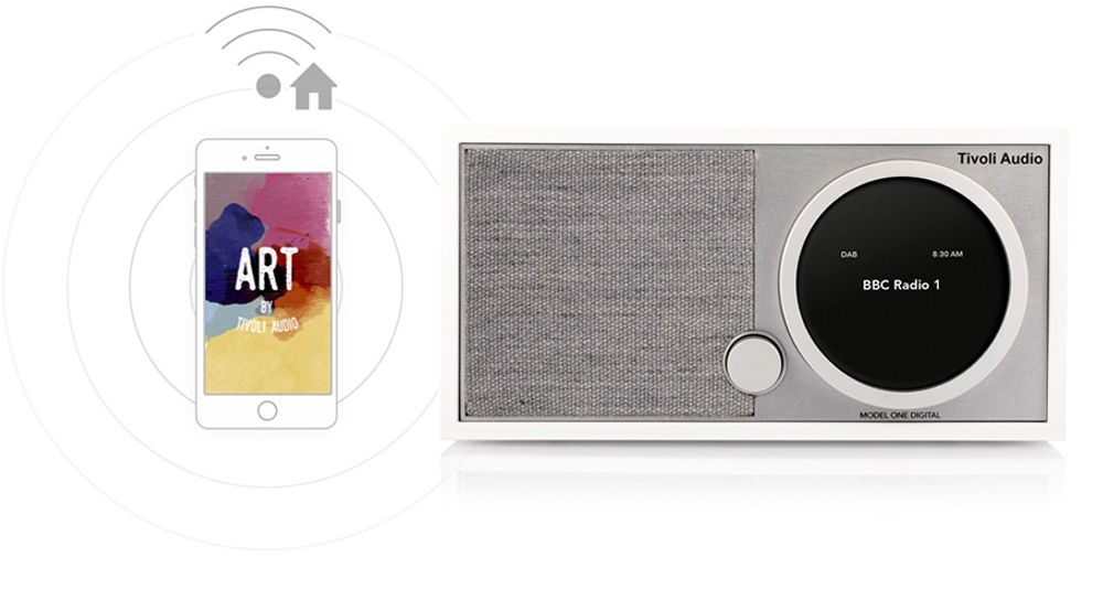 Radio FM/DAB/DAB+ sans fil Bluetooth® et Wi-Fi™ avec fonction multiroom - TIVOLI Model One Digital