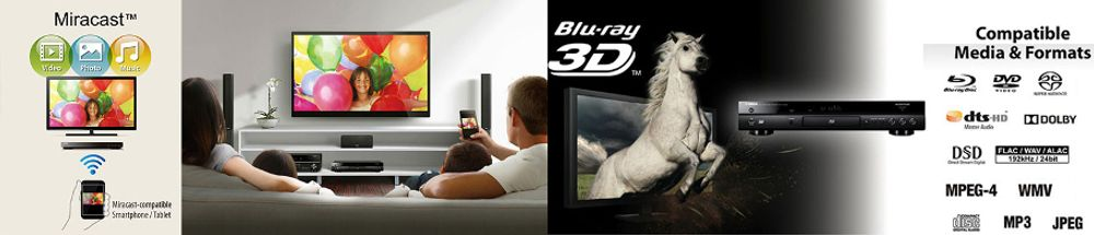 Miracast et Wi-Fi direct pour ce Yamaha BDA1060
