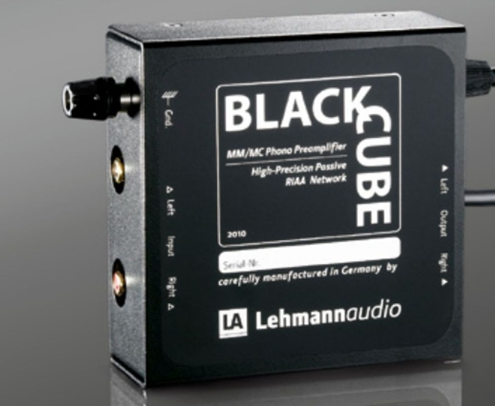 Préampli phono MM/MC Lehmann Audio Black Cube