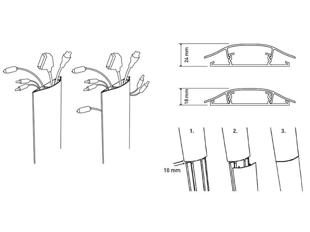 erard slim goulotte 650 mm blanc 007849 accessoires. Black Bedroom Furniture Sets. Home Design Ideas