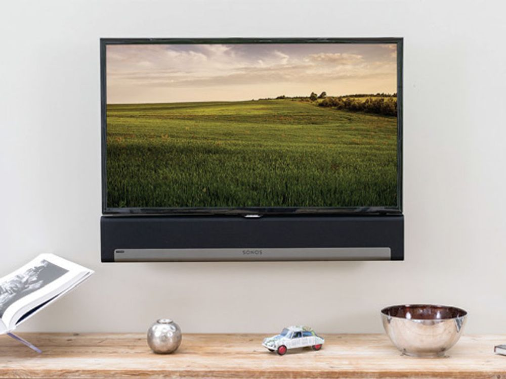 flexson accroche murale fixe pour sonos playbar tv. Black Bedroom Furniture Sets. Home Design Ideas