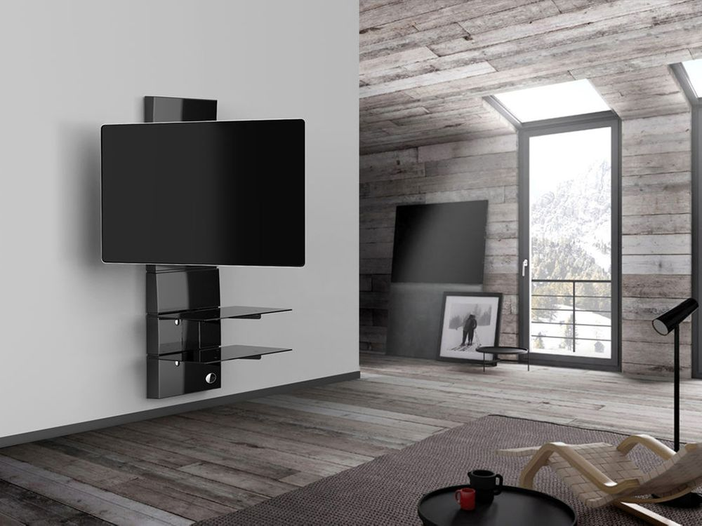 Meliconi ghost design 3000 r noir supports tv - Support tv mural orientable ...
