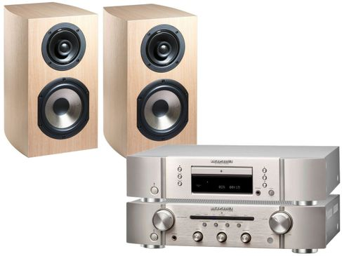 MARANTZ PM5005 + CD5005 Silver Gold + CABASSE ANTIGUA MC 170 Chêne Blanchi