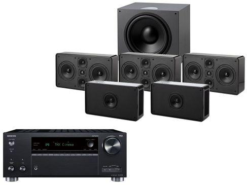 ONKYO TX-RZ740 Noir + JAMO D500 THX III Noir