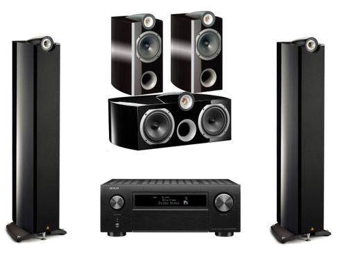 DENON AVC-X6500H Noir + TRIANGLE GENESE QUARTET + VOCE + TRIO Noir Laqué