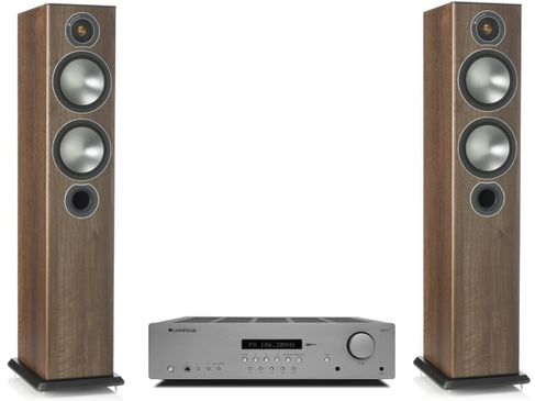 CAMBRIDGE AXR85 + MONITOR AUDIO BRONZE 5 Walnut