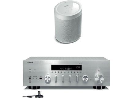 YAMAHA R-N803D Silver + MusicCast 20 Blanc