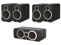 Q ACOUSTICS Pack 5.0 3020i (x4) + 3090Ci Mat Black