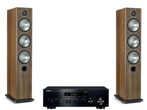 Yamaha R-N402D Noir + Monitor Audio Bronze 6 Noyer