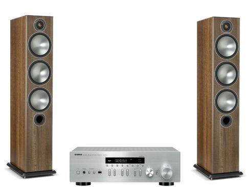 Yamaha R-N402D Silver + Monitor Audio Bronze 6 Noyer