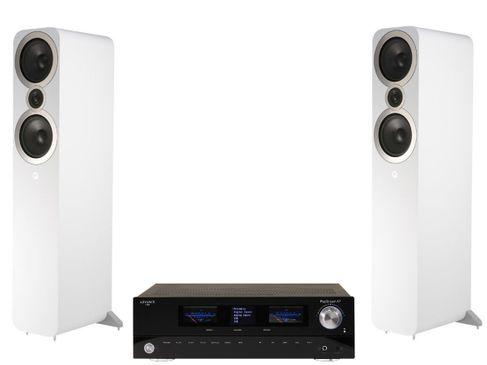 Advance Paris PlayStream A7 + Q Acoustics 3050i Blanc
