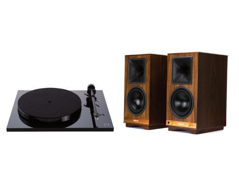 Klipsch The Sixes Noyer + Rega Planar 1 Noir