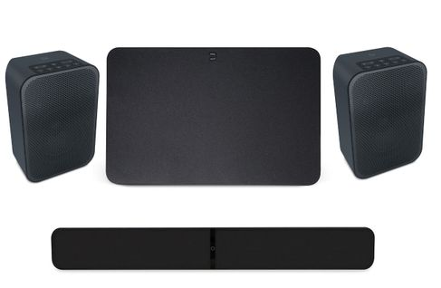 BLUESOUND PULSE SOUNDBAR 2i Noir + PULSE SUB Noir + PULSE FLEX 2i Noir