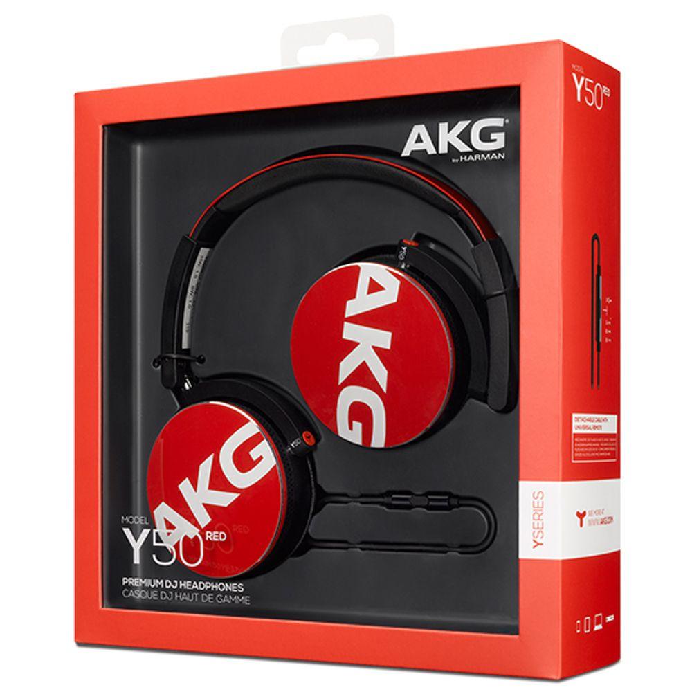 Casque audio fermé supra-auriculaire avec câble détachable avec télécommande / micro - AKG Y50