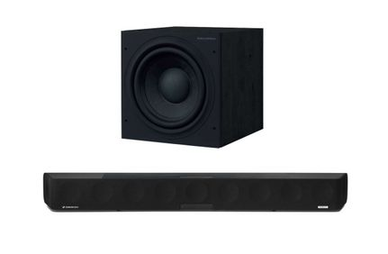 SENNHEISER AMBEO Soundbar + BOWERS & WILKINS ASW610 Noir