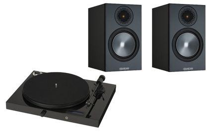 PROJECT JUKE BOX E Piano Black (avec OM5)  + MONITOR AUDIO Bronze 50 Black