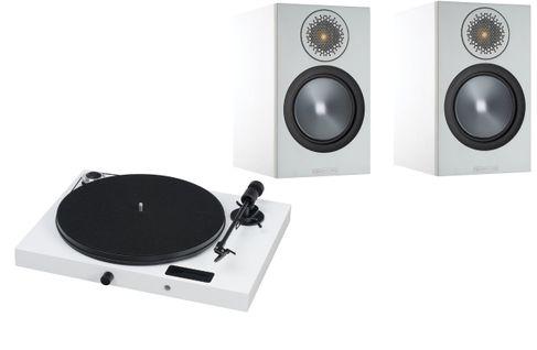 PROJECT JUKE BOX E Piano White (avec OM5)  + MONITOR AUDIO Bronze 50 White
