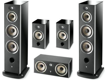 FOCAL Pack 5.0 ARIA 948 + CC900 + 906 Black High Gloss