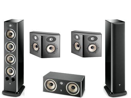 FOCAL Pack 5.0 ARIA 936 + CC900 + SR900 Black High Gloss
