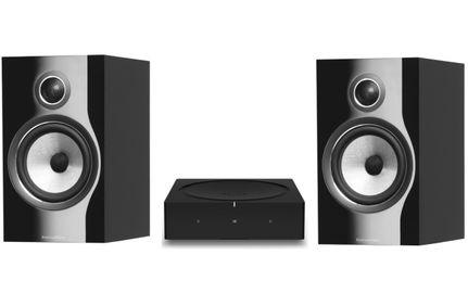 SONOS AMP Noir + Bowers & Wilkins 706 S2 Gloss Black