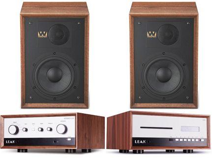 Leak Stereo 130 Walnut + CDT Walnut + Wharfedale Denton 85 Walnut