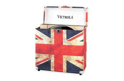 VICTROLA Valise à Vinyles Drapeau UK
