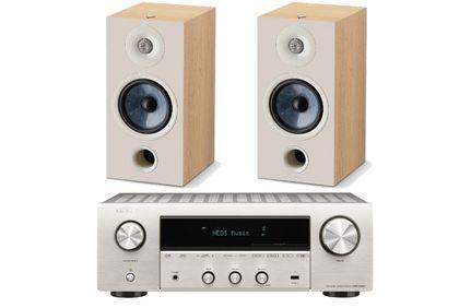 DENON DRA-800H Silver + FOCAL CHORA 806 Light Wood