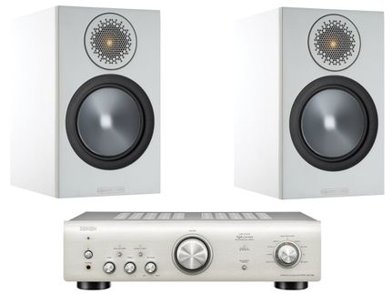 DENON PMA-600NE Silver Premium + MONITOR AUDIO BRONZE 50 Blanc