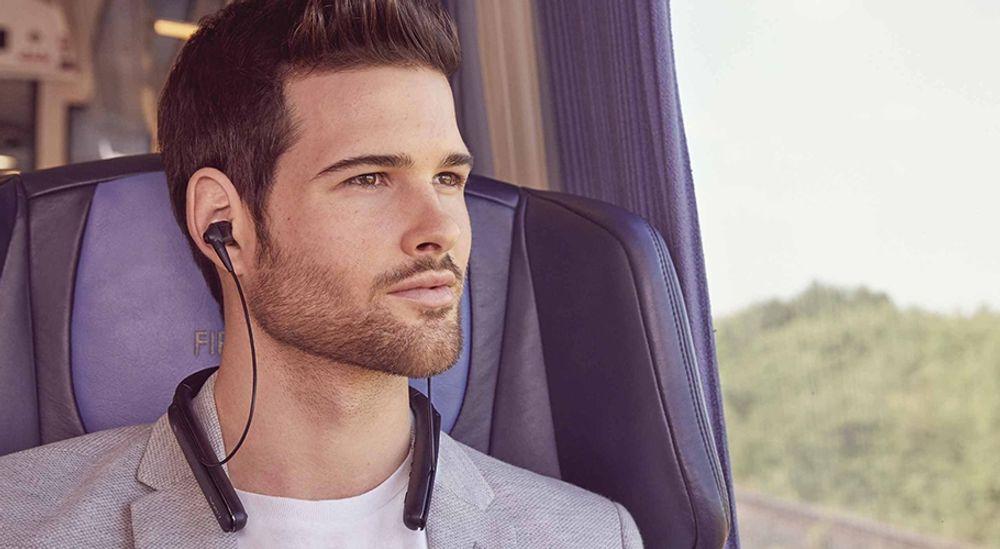 Casque intra sans fil Bluetooth® avec tour de cou hybride - SONY WI-1000X