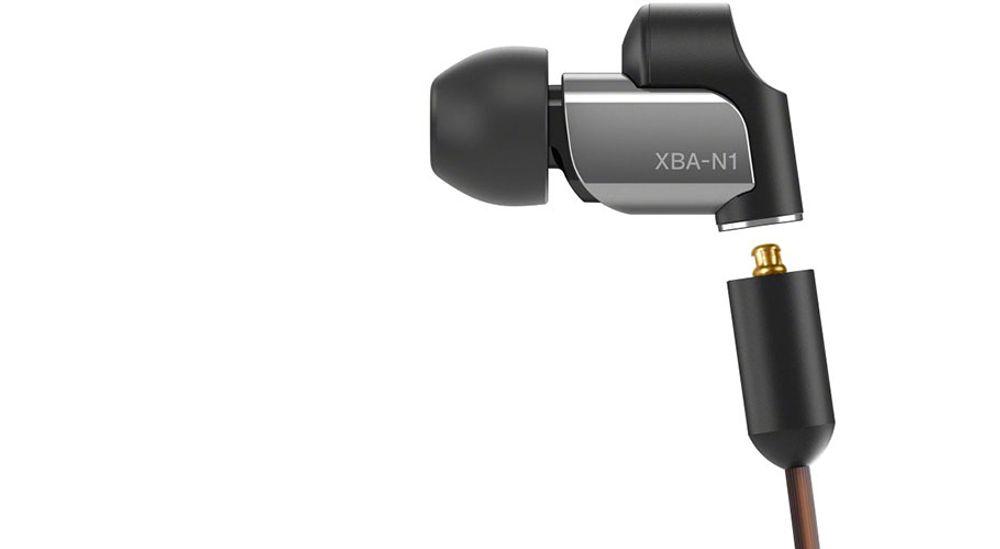 Casque intra-auriculaire avec diaphragme hybride HD certifié Hi-Res Audio - SONY XBA-N1AP