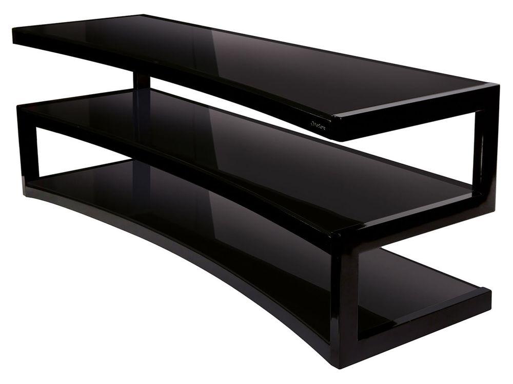 Norstone esse curve noir noir meubles et pieds tv - Meuble tv 40 pouces ...